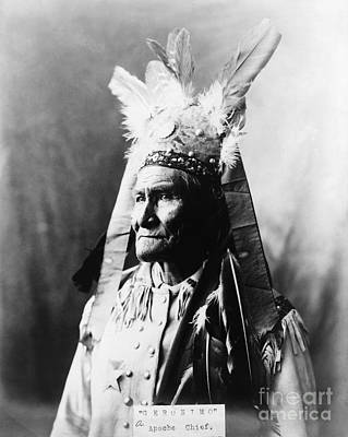 Painting - Geronimo (1829-1909) by Granger