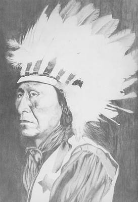 Drawing - Geronimo by Brian Kinney