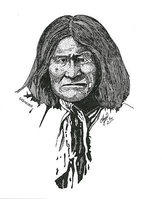 Drawing - Geronimo by Clayton Cannaday