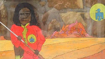 Tempera Mixed Media - Geronimo by Don Koester