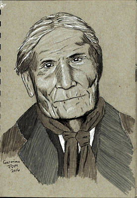 Painting - Geronimo by Frank Middleton
