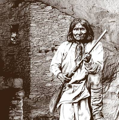 Geronimo's Skull Art Print