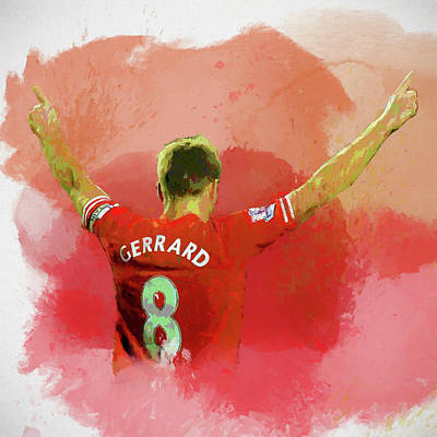 Mixed Media - Gerrard Paint Splatter by Dan Sproul