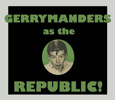 Voters Digital Art - Gerry Manders by Thomas Krahn