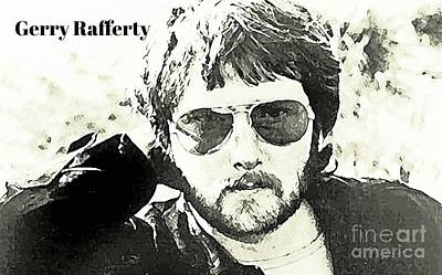 Rafferty Painting - Gerry Rafferty Poster by John Malone