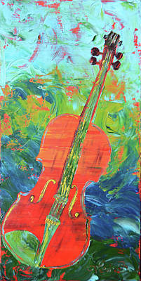 The Opera Orchestra Painting - Gerry's Violin by Lee Bauman