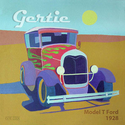 Street Rod Digital Art - Gertie Model T by Evie Cook