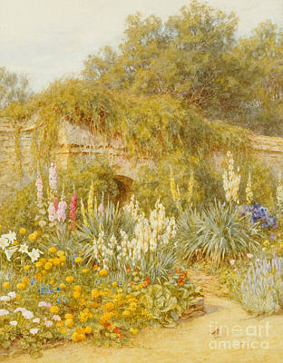 Gertrude Jekyll's Garden, Munstead Wood Art Print by Helen Allingham