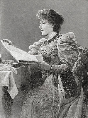 Gertrude Kingston, 1862 Print by Vintage Design Pics