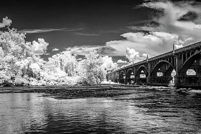 Photograph - Gervais St. Bridge-infrared-bw by Charles Hite