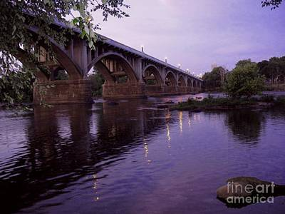 Photograph - Gervais Street Bridge At Dusk by Jean Ehler