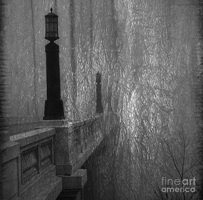 Rendition Photograph - Gervais Street Bridge Bnw Artistic by Skip Willits