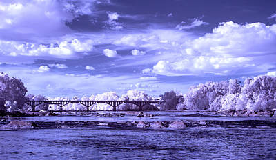 Photograph - Gervais Street Bridge In Ir by Charles Hite