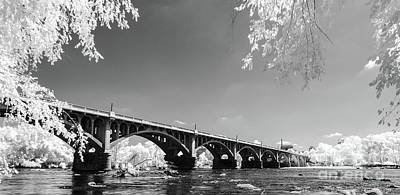 Photograph - Gervais Street Bridge In Ir1 by Charles Hite