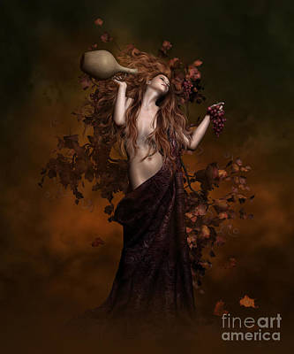 Grape Vines Digital Art - Geshtinanna Goddess Of Grape Vine by Shanina Conway