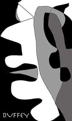 Digital Art - Gesicht-ohne Titel by Doug Duffey