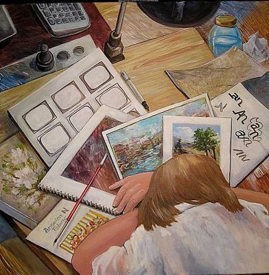 Painting - Get A Real Job by Denise Ivey Telep