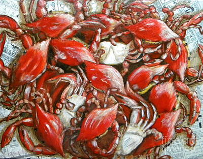 Seafood Mixed Media - Get Crackin by JoAnn Wheeler