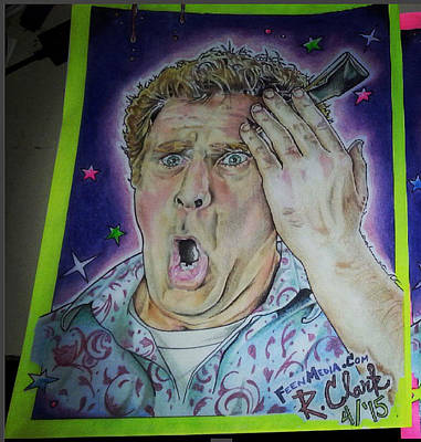 Will Ferrell Drawing - Get Hard by Ronald Clark