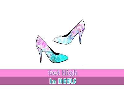 Digital Art - Get High In Heels - Fashion Illustration by Kathleen Sartoris