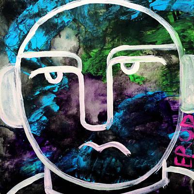 Urban Subway Painting - Get Into The Groove Art By Robert Erod Original by Robert R Splashy Art Abstract Paintings