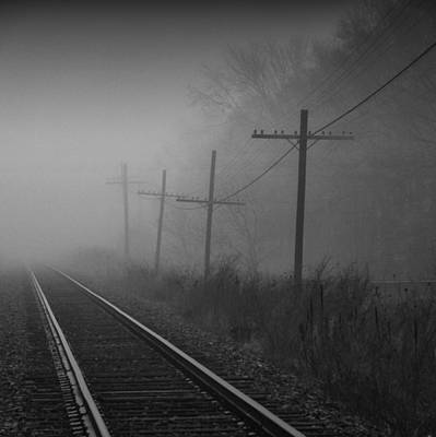Train Tracks Photograph - Get Me Outta Here by Russell Styles