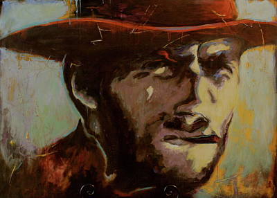 Clint Eastwood Art Painting - Get Off My Lawn by Chris Riley