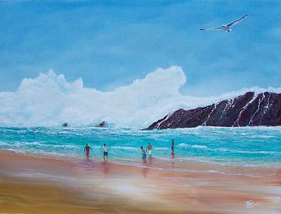 Puerto Rico Painting - Get Off The Beach by Tony Rodriguez