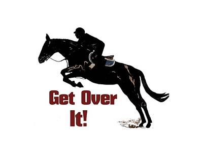 Digital Art - Get Over It Horse Jumper by Patricia Barmatz