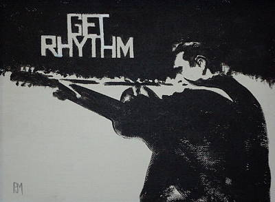 Johnny Cash Wall Art - Painting - Get Rhythm by Pete Maier