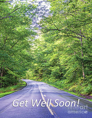 Photograph - Get Well Soon - Long Road by Alana Ranney