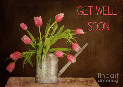 Photograph - Get Well Soon - Pink Tulips by Alana Ranney