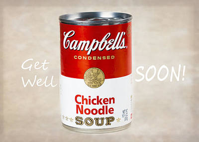 Get Well Soon With Some Campbell's Chicken Noodle Soup Art Print by Vivian Frerichs
