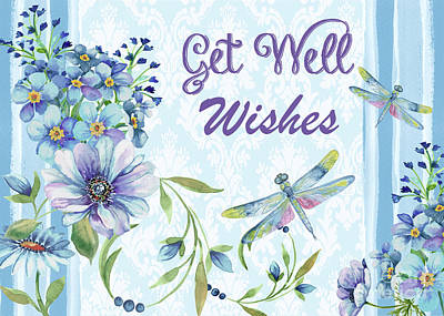 Painting - Get Well Wishes Greeting Card by Jean Plout