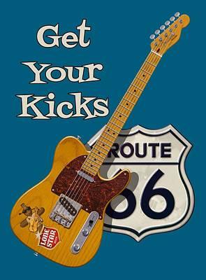 Kick Digital Art - Get Your Kicks by WB Johnston