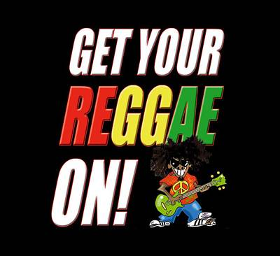 Digital Art - Get Your Reggae On by Kev Moore