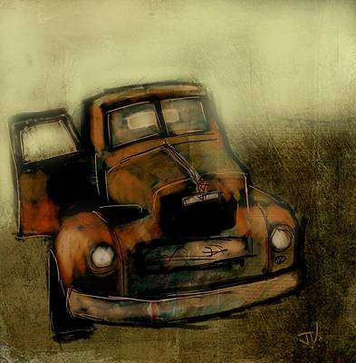 Painting - Getaway Truck by Jim Vance