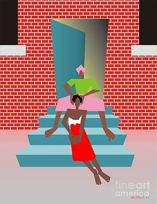 Gettin Her Hair Did Art Print by Walter Oliver Neal