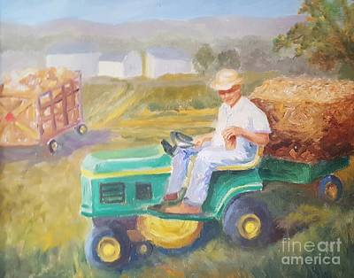 Gettin' In Hay Art Print by Dorothy Weichenthal