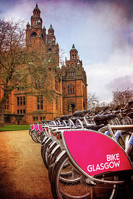 Cycling Photograph - Getting Around Glasgow  by Carol Japp