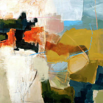 Collage Painting - Getting Closer #2 by Jane Davies