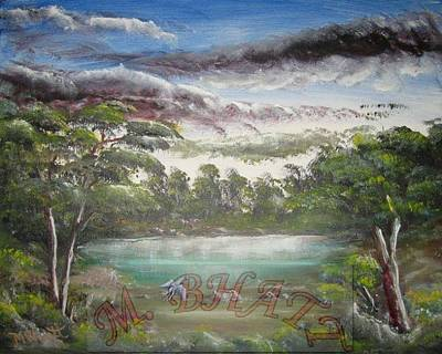 Clous Painting - Getting Cloudy by M Bhatt