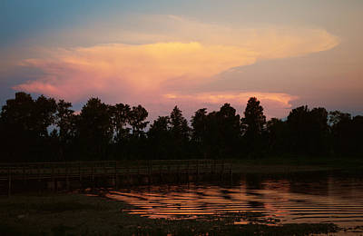 Photograph - Getting Dark - Sunset by rd Erickson