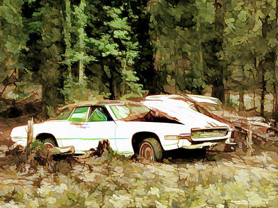 Old Junk Car Painting - Getting Old Is Not Amusing by Lanjee Chee