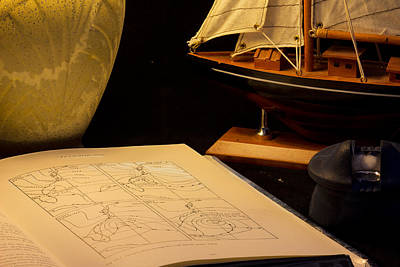 Nautical Chart Photograph - Getting Ready by Brian Roscorla