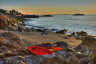 Photograph - Getting Ready For A Morning Kayak Marblehead Ma by Toby McGuire