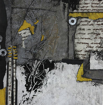 Gray Mixed Media - Getting Sounds  by Laura Lein-Svencner