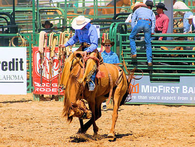 Of Rodeo Events Photograph - Getting Thrown The Hard Way by Cheryl Poland