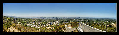 Getty Photograph - Getty Panorama by Ricky Barnard