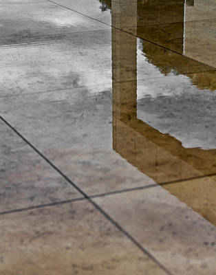 Photograph - Getty Reflections by Ron Dubin